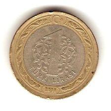 2011 TURKEY Coin 1 LIRASI , Bi-Metal