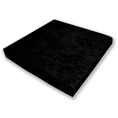 Mv36 Black Crushed Velvet Sofa Seat Patio Bench Box Cushion Bolster Cover//Runne