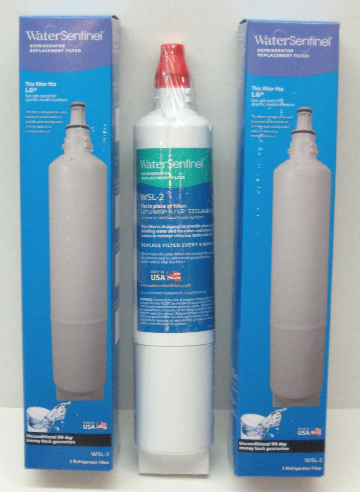 WSL2 2pk Water Sentinel Refrigerator Water Filter for LG 5231JA2006A LT600P