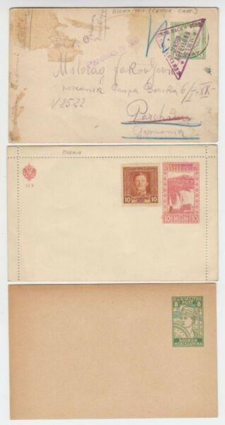 A6115: (3) Bosnie Postal Cards, Ww I Censurés, Non Vérifié!