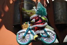 Glasschmuck Krokodil bunt Weihnachtsschmuck Weihnachten Christbaumschmuck