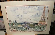 """RAOUL DUFY """"THE EFFIEL TOWER"""" LARGE COLOR ART POSTER"""