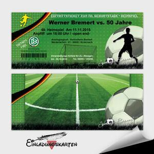 Details Zu Einladungskarten Geburtstag Fussball Mit Briefumschlage 10 20 30 40 50