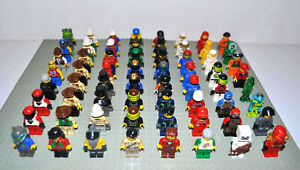 Lego-Figuren-10x-korrekt-zusammengebaut-inkl-Kopfbedeckung-Space-Minecraft-etc
