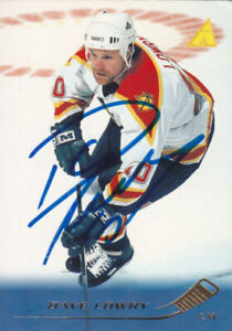 Dave Lowry Autograph 95-96 Pinnacle Panthers Card Blues - Sharks - Jets Asst.