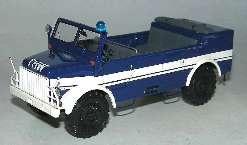 Kimmeria, Borgward Borgward Borgward B2000 A O Kübelwagen offen THW, handbuilt, metal, 1 43 cd6a7a