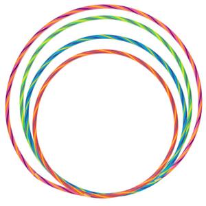 Multicolour Hula Hoop Children/'s Adult Fitness Activity Plastic Hoola Hoop Kids