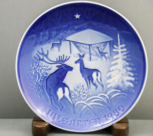 Bing-And-Grondahl-B-amp-G-Christmas-Plate-1980-Jul-i-Skoven-Christmas-Woods-7-034