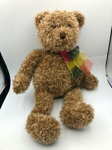 Gund-Bearessence-Teddy-Bear-Rainbow-Bow-Plush-Kids-Soft-Stuffed-Toy-Animal-Doll