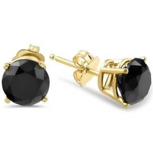 1-1-2ct-Treated-Black-Diamond-Stud-Earrings-Yellow-Gold