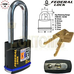 Federal-FD733-Sold-Secure-Silver-CEN-4-Super-Heavy-Duty-Solid-Steel-Padlocks