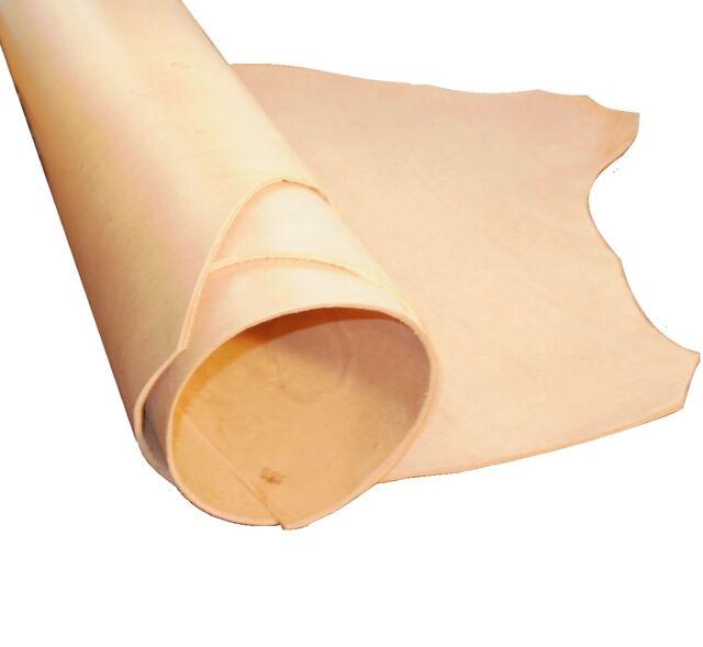 Natural Veg Tan in Pelle Artigianale 3MM Spessore Grado B Scelta di Taglie