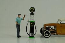 Tanksäule / petrol pump Glas pompe a essence / Polly Gas 1:18 no car Figur
