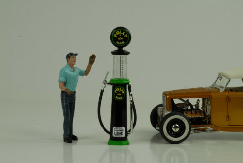 Tank pilar//petrol Pump vidrio Pompe a Essence//Polly gas 1:18 no car personaje