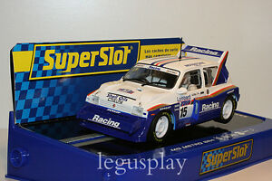 Slot-SCX-Scalextric-Superslot-H3408-MG-Metro-6R4-N-15-Jimmy-McRae-New