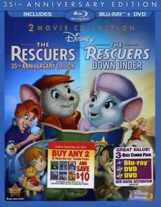 The-Rescuers-The-Rescuers-Down-Under-35th-Anniversary-Edition-New-Blu-ray