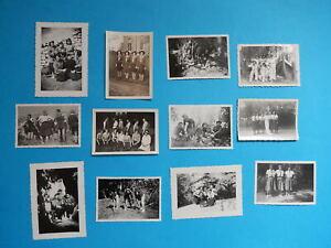 LOT DE 12 PETITES   PHOTO  ECLAIREUSES GUIDES JEANNETTES FILLE  UNIFORME BIVOUAC