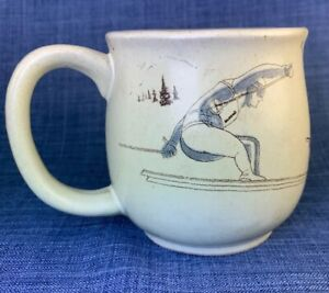 Otagiri-Skiing-Down-Hill-Skier-Coffee-Mug-Vintage-Ski-Ceramic-Round-Belly-Cup