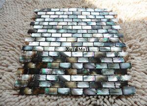 black lip shell mosaic mother of pearl kitchen backsplash