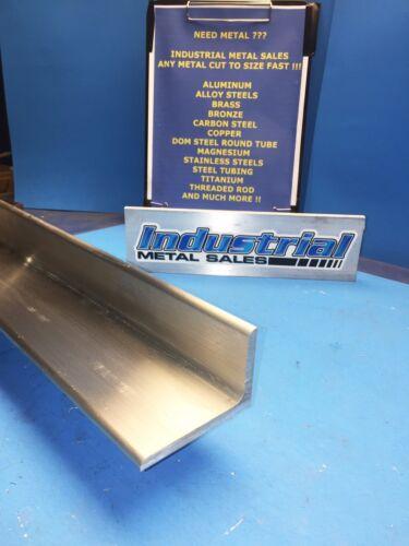 "6061 T651 Aluminum Angle 2/""X 3/""X 24/"" Long 1//4/"" Thick"
