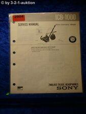 Sony Service Manual ICB 1000 Walkie Talkie Headphones (#2904)