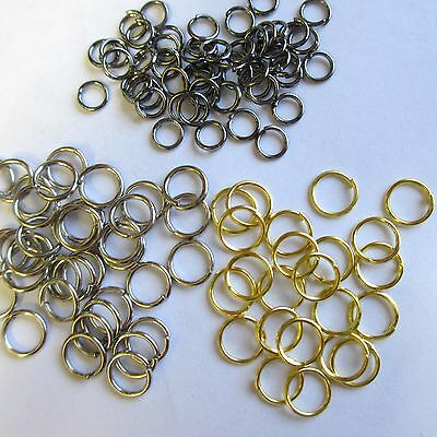 500 Jumprings In Silver Black, Antique Gold & Gold Plated 5 mm Craft &  Findings | eBay