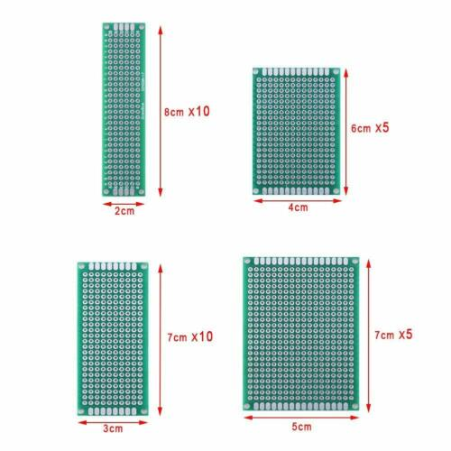 Austor 100 Pcs Pcb Board Kit Including 30 Pcs Double Sided Prototype Boards And