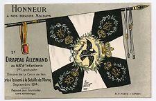 WW1 . 3e DRAPEAU ALLEMAND. 68e d'Infanterie . Bataille de l'OURCQ . Flag