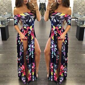 aeaf4e5767 Image is loading Women-Plus-Size-Bodycon-Clubwear-Playsuit-Dress-Jumpsuit-