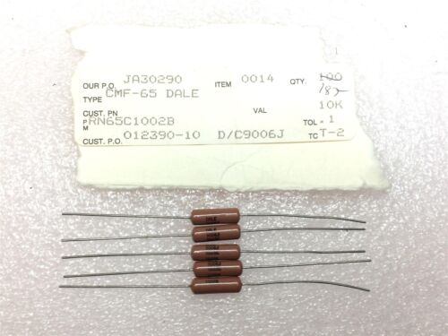 RN65C1002B DALE RES 10K OHM 1//2W .1/% AXIAL 20 PIECES