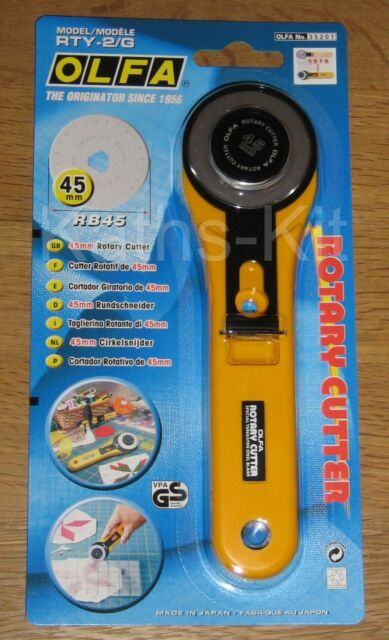 OLFA Rotary Cutters or Spare Blades cut Fabric Leather Paper *Save£ Deal Now On*