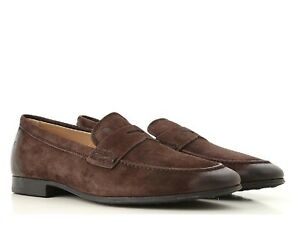 Tod-039-s-Men-039-s-moccasins-shoes-in-vintage-Brown-Suede-leather-Size-US-6-5-EU-39