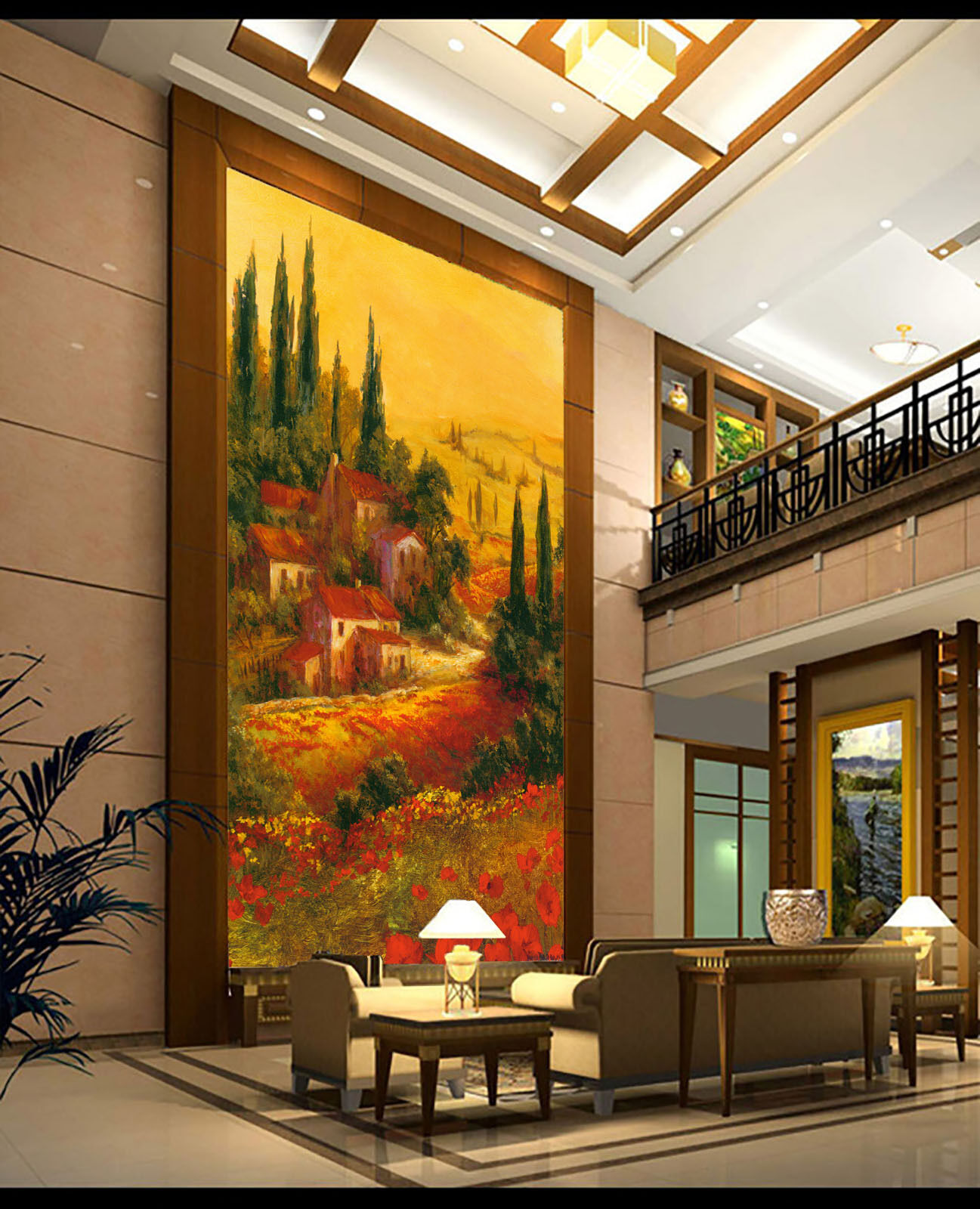 3D Forest ROT House Paper Wall Print Wall Decal Wall Deco Indoor Murals
