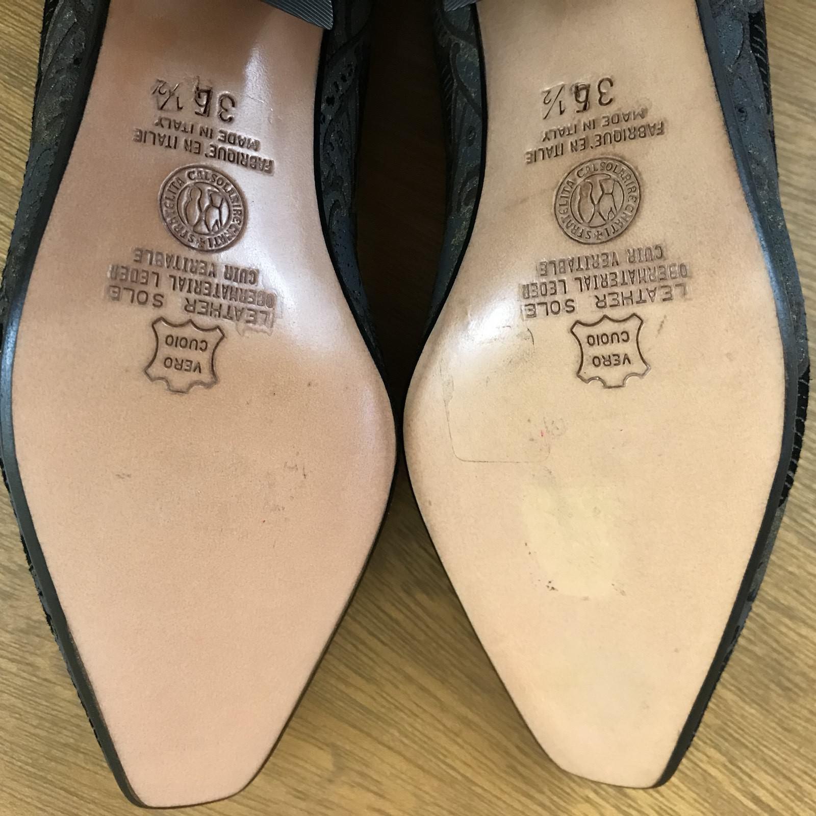 Serena D'Italia damen's Pumps Pumps damen's Kitten Heel Paisley Pattern US Größe 4.5 Made  80f458