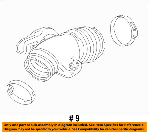GM OEM Air Cleaner-to Intake Tube Duct Hose 20871478