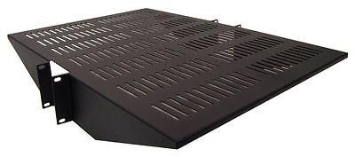 """19"""" Vented Center Weight Relay Rack Mount Data Server Steel Shelf - 2U 22"""" Deep"""