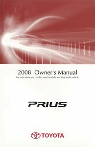 2008 toyota prius owners manual user guide reference. Black Bedroom Furniture Sets. Home Design Ideas