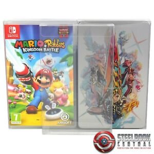 5 x GP14 Switch Game Box / Steelbook Protectors for Nintendo 0.4mm Display Case