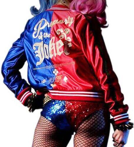 Women's Harley Joker Property Of Women Squad Comic Quinn Jacket Suicide Costume rP1xrwF