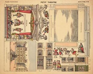 VINTAGE SMALL THEATER PAPER DOLL  RARE UNCUT LASER REPRODUCTION