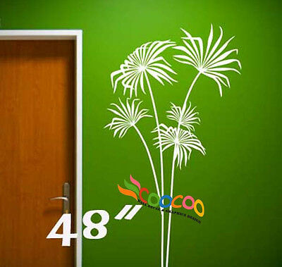 Wall Decor Decal Sticker Removable Vinyl palm leaf