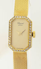 CHOPARD DESIGN DAMENUHR - IN MASSIV 18ct GOLD - 41 DIAMANTEN - 1980er JAHRE