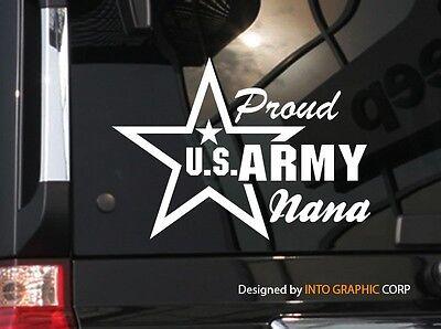 """US Army Proud Dad  Vinyl Car Decal Sticker 7/"""" W w// Star"""
