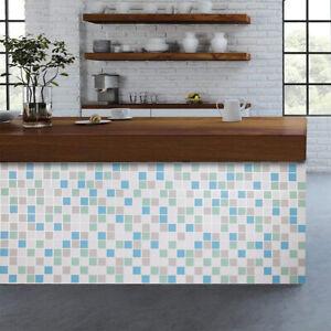 Home Cal Waterproof Self-Adhesive Paper Wallpaper,Gray Mosaics,1.48 x 32.8ft