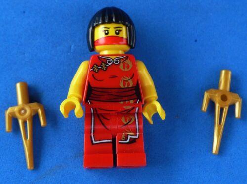 LEGO NINJAGO GIRL NINJA MINIFIGURE NYA W//2 SAI/'S