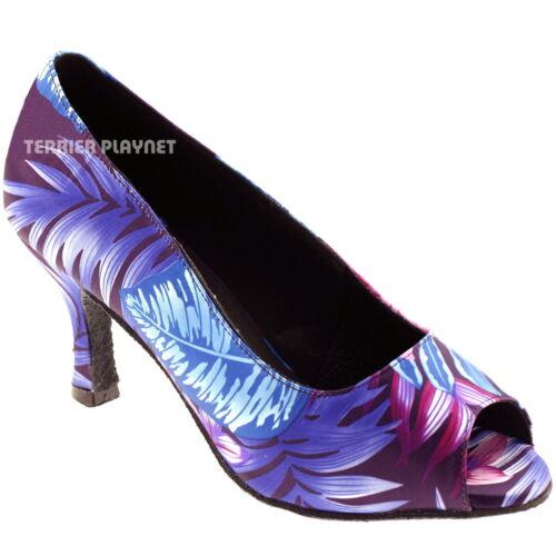 TPS Purple /& Blue Latin Ballroom Salsa Custom-made Dance Shoes D569