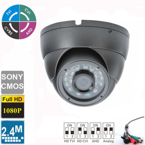 HD-CVI HD-TVI HD-AHD Analog 1080P Dome Camera 2.4MP 3.6mm Sony CMOS Outdoor IR