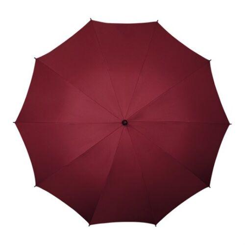 IMPLIVA 130 CM Übergroß Schirme Regenschirm Stockschirm Glasfaser burgund