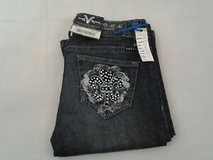 Rock-Premium-Vault-Denim-Womens-Jeans-Nice-Pockets-Size-30-Actual-W-29-L-33