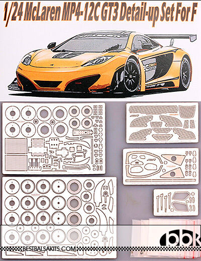 1 24 McLAREN MP4-12C GT3 FULL DETAIL UP PHOTO ETCH SET for FUJIMI